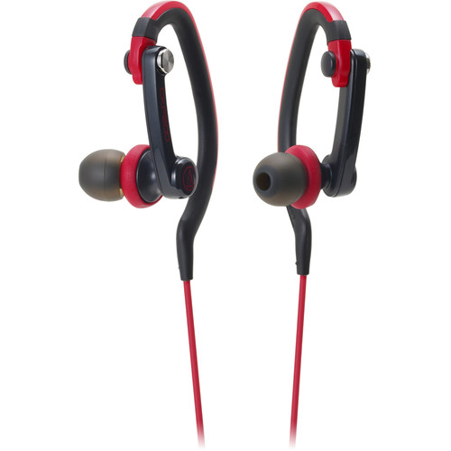 Audio-Technica Consumer ATH-CKP200 SonicSport In-Ear Headphones (Red)