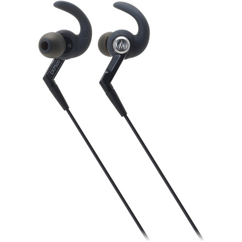 Audio-Technica Consumer ATH-CKP500 SonicSport In-Ear Headphones (Black)