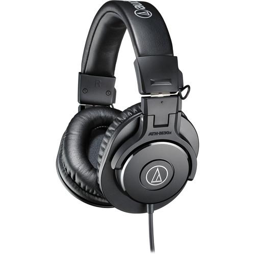 Audio-Technica ATH-M30x Headphones and Meteor USB Microphone Kit