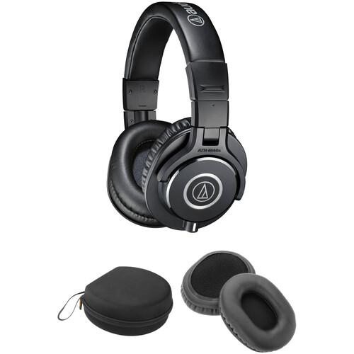 Audio-Technica ATH-M40x Headphones, Case, and Hanger Mount Kit (Black)