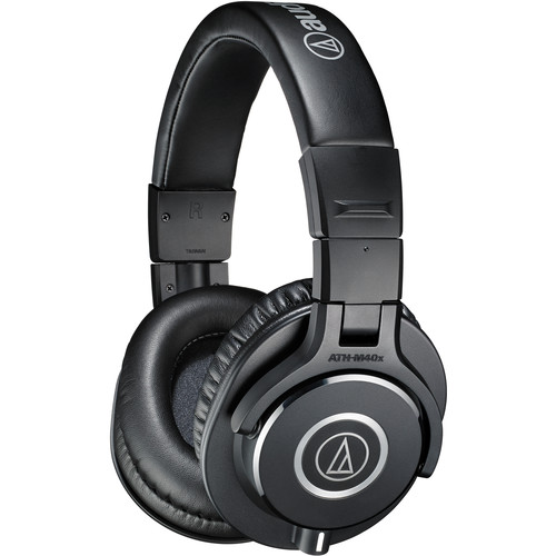 Audio-Technica ATH-M40X Monitor Headphones and C01U USB Microphone Kit (Black)