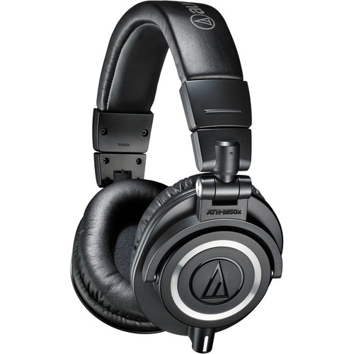 Audio-Technica ATH-M50X Monitor Headphones and Crane Elite Laptop Stand Kit