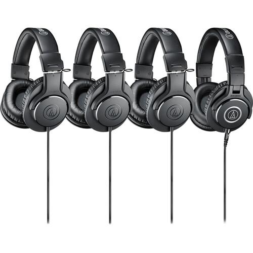 Audio-Technica ATH-PACK4 Monitor Headphones Pack (4 Headphones)