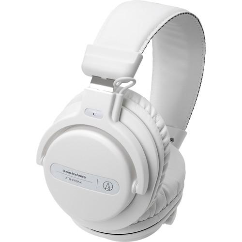 Audio-Technica Consumer ATH-PRO5X Professional Over-Ear DJ Monitor Headphones (White)
