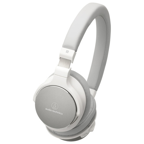 Audio-Technica ATH-SR5BTWH Wireless On-Ear High-Resolution Audio Headphones (White)