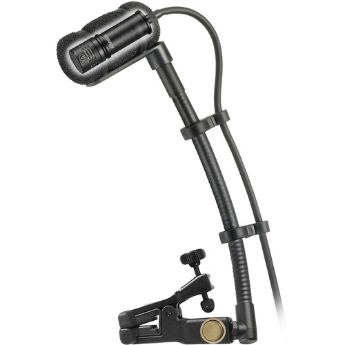 Audio-Technica ATM350UcH Cardioid Condenser Clip-On Instrument Microphone with Universal Mounting System
