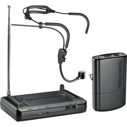 Audio-Technica Consumer ATR7100H VHF Wireless Headworn Microphone Set - Band T8