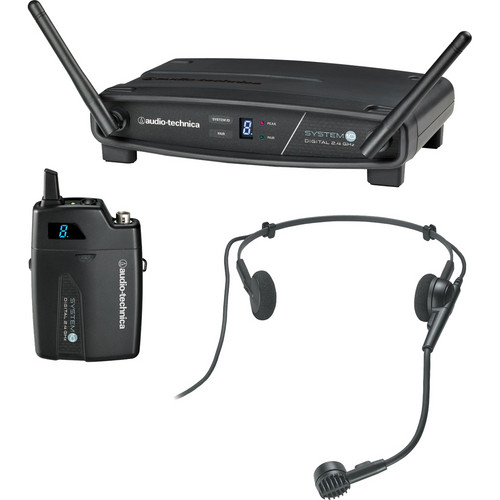 Audio-Technica ATW-1101/H System 10 Digital Wireless Hypercardioid Headset Microphone System (2.4 GHz)