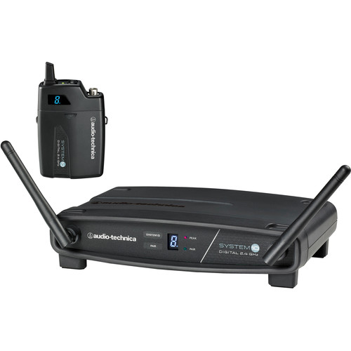 Audio-Technica ATW-1101 System 10 Digital Wireless Bodypack Microphone System with No Mic (2.4 GHz)