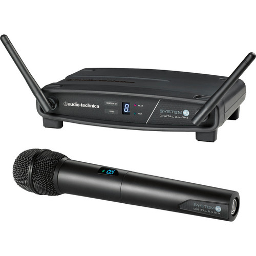 Audio-Technica ATW-1102 System 10 Digital Wireless Hypercardioid Handheld Microphone System (2.4 GHz)