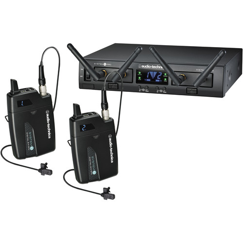 Audio-Technica ATW-1311/L System 10 PRO Dual-Channel Digital Wireless Omni Lavalier Microphone System (2.4 GHz)