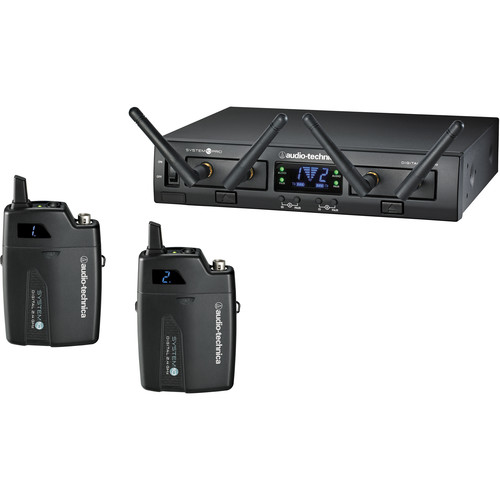 Audio-Technica ATW-1311 System 10 PRO Dual-Channel Digital Wireless Bodypack Microphone System with No Mics (2.4 GHz)