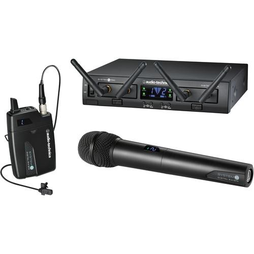 Audio-Technica ATW-1312L System 10 PRO Rack-Mount Digital Lavalier/Handheld Combo System (2.4 GHz)