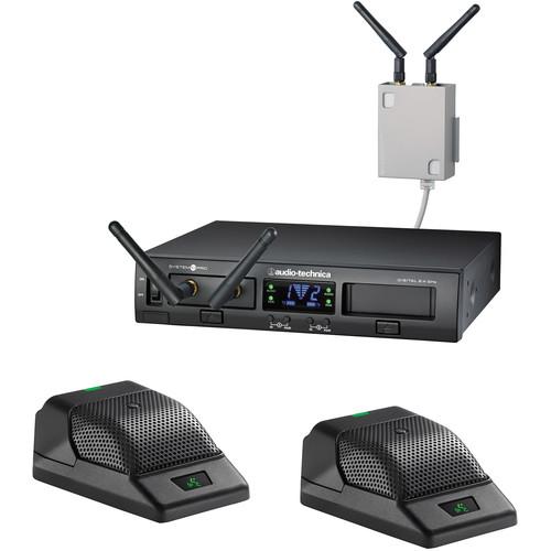 Audio-Technica ATW-1366 System 10 PRO Dual-Channel Digital Wireless Boundary Microphone System (2.4 GHz)