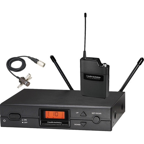 Audio-Technica ATW-2129b Wireless Lavalier Microphone System (Band I: 487.125 to 506.500 MHz)