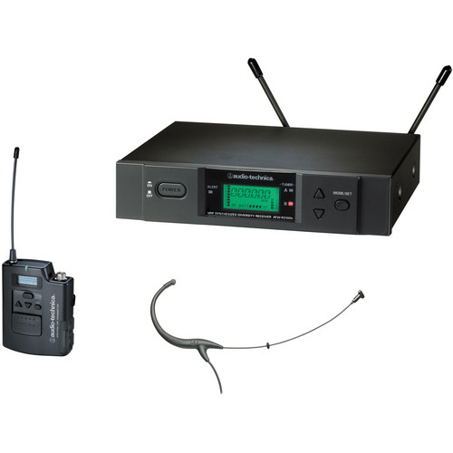 Audio-Technica ATW-3194b - 3000 Series Headworn UHF Wireless Microphone System (Band I, Black)