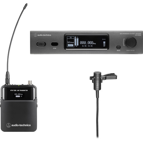 Audio-Technica ATW-3211/831EE1 3000 Series Fourth Generation Wireless Microphone System with AT831cH Lavalier Mic (EE1: 530.000 to 589.975 MHz)
