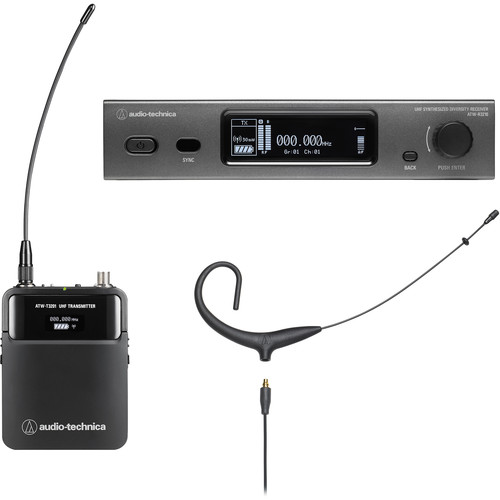 Audio-Technica ATW-3211/892x 3000 Series Wireless Omni Earset Microphone System (Black, EE1: 530 to 590 MHz)