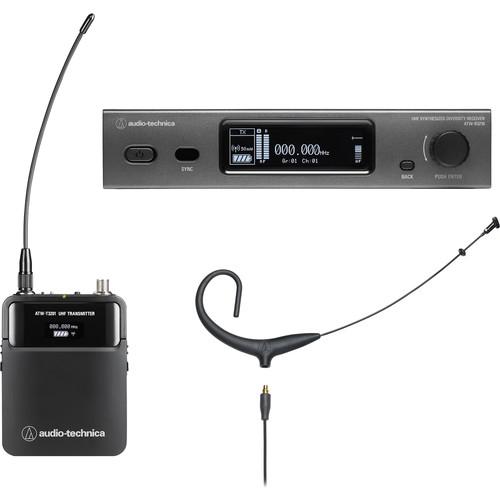Audio-Technica ATW-3211/894XDE2 3000 Series Fourth Generation Wireless Microphone System with BP894xcH Headworn Mic (DE2: 470.125 to 529.975 MHz, Black)