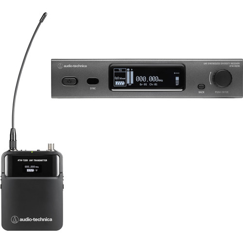 Audio-Technica ATW-3211 3000 Series Bodypack Wireless Microphone System with No Mic (EE1: 530 to 590 MHz)