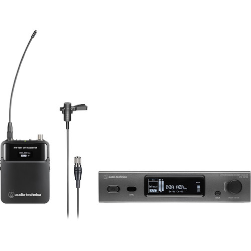 Audio-Technica ATW-3211N/831 3000 Series Network Wireless Cardioid Lavalier Microphone System (DE2: 470 to 530 MHz)