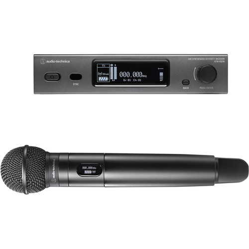 Audio-Technica ATW-3212/C510DE2 3000 Series Fourth Generation Wireless Handheld Microphone System with ATW-C510 Capsule (DE2: 470.125 to 529.975 MHz)