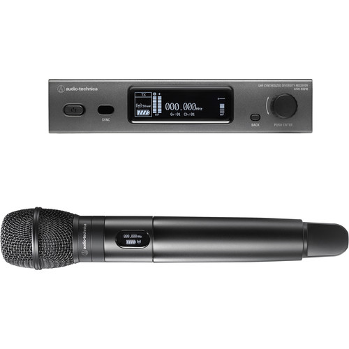 Audio-Technica ATW-3212/C710EE1 3000 Series Fourth Generation Wireless Handheld Microphone System with ATW-C710 Capsule (EE1: 530.000 to 589.975 MHz)