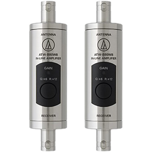 Audio-Technica Wideband UHF In-Line Antenna Boosters (Pair, 470-990 MHz)