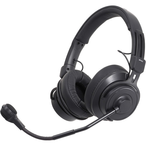 Audio-Technica BPHS2 Stereo Broadcast Headset with Hypercardioid Dynamic Boom Mic (Unterminated)