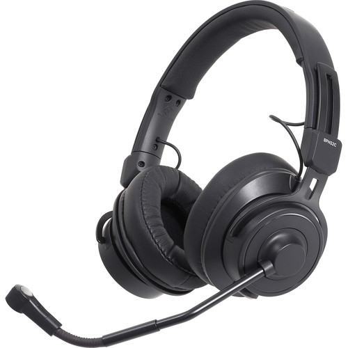 Audio-Technica BPHS2C Stereo Broadcast Headset with Cardioid Condenser Boom Mic (Unterminated)