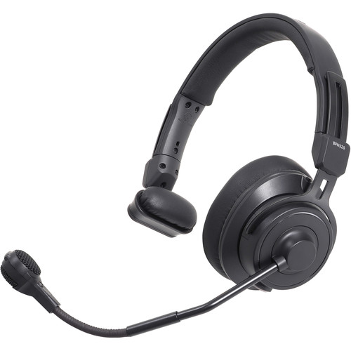Audio-Technica Single-Ear Broadcast Headset with Hypercardioid Dynamic Boom Microphone