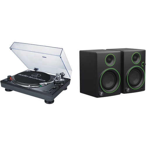 Audio-Technica Consumer AT-LP120USB Pro Turntable Kit with Studio Monitors