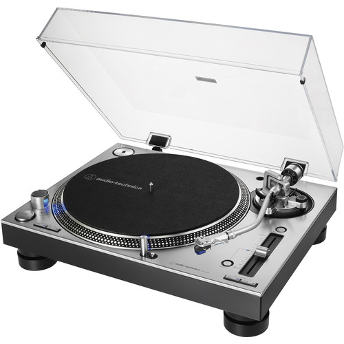 Audio-Technica Consumer AT-LP140XP Direct Drive Professional DJ Turntable (Silver)