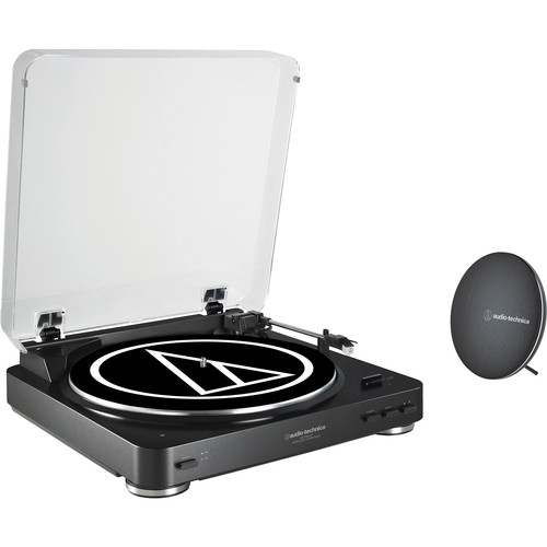 Audio-Technica Consumer AT-LP60BK-BT Turntable with Bluetooth Speaker Bundle (Black)