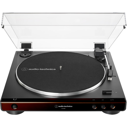 Audio-Technica Consumer Fully Automatic Belt-Drive Stereo Turntable (Brown)