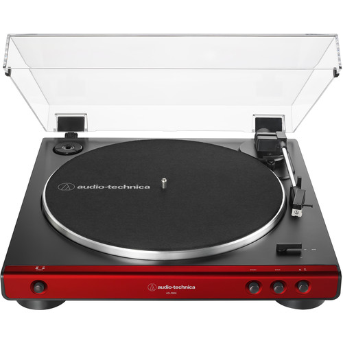 Audio-Technica Consumer AT-LP60X Stereo Turntable (Red & Black)