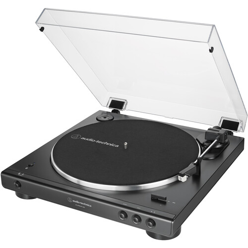 Audio-Technica Consumer AT-LP60XBT-USB-BK Fully Automatic Two-Speed Stereo Turntable with Bluetooth & USB (Black)
