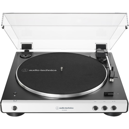 Audio-Technica Consumer AT-LP60XBT Stereo Turntable with Bluetooth (White & Black)