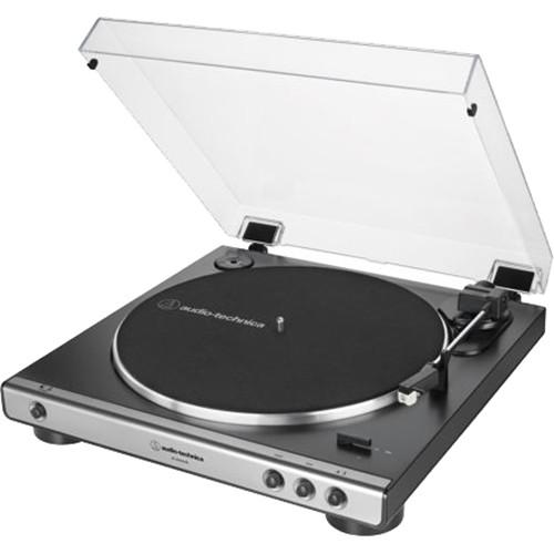Audio-Technica Consumer Fully Automaic Belt Drive Stereo USB & Analog Turntable (Gun Metal)