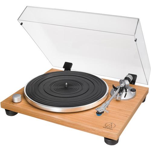 Audio-Technica Consumer AT-LPW30TK Fully Manual Belt-Drive Turntable (Teak)