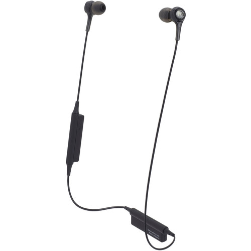 Audio-Technica Consumer ATH-CK200BT Wireless In-Ear Headphones with In-Line Mic (Black)