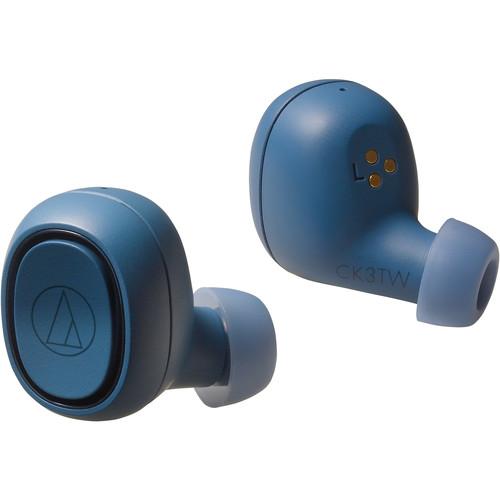 Audio-Technica Consumer ATH-CK3TW True Wireless In-Ear Headphones (Blue)