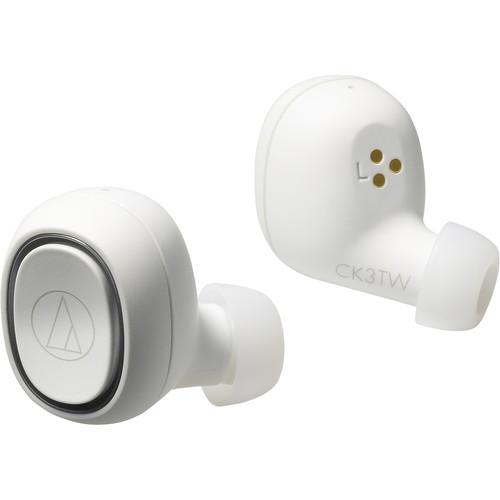 Audio-Technica Consumer ATH-CK3TW True Wireless In-Ear Headphones (White)