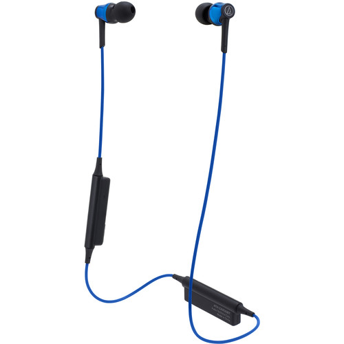 Audio-Technica Consumer ATH-CKR35BT Sound Reality Wireless In-Ear Headphones (Blue)