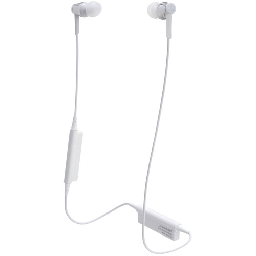 Audio-Technica Consumer ATH-CKR35BT Sound Reality Wireless In-Ear Headphones (Silver)