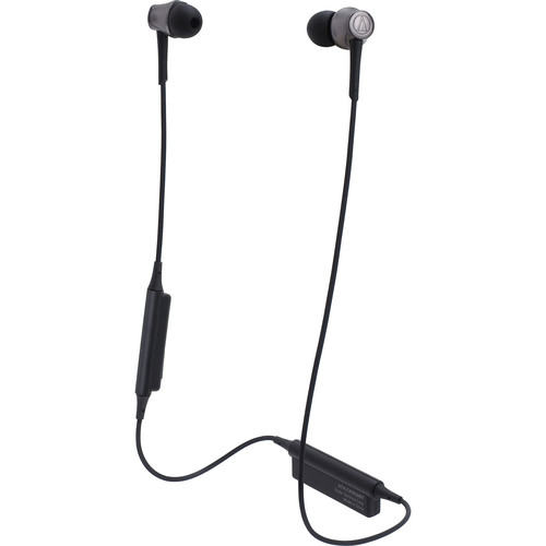 Audio-Technica Consumer ATH-CKR55BT Sound Reality Wireless In-Ear Headphones (Black)
