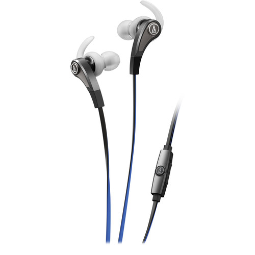 Audio-Technica Consumer ATH-CKX9iS SonicFuel In-Ear Headphones with In-Line Mic and Control (Silver)