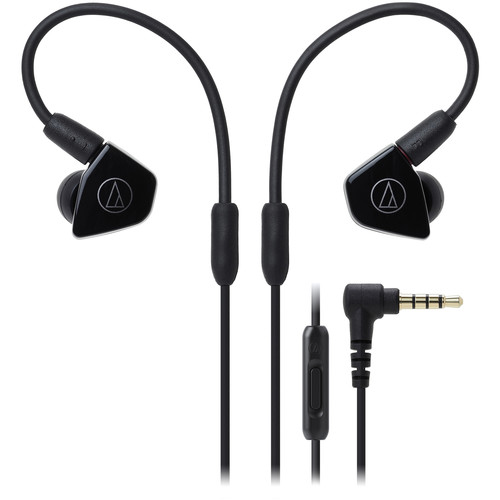 Audio-Technica Consumer ATH-LS50iSBK In-Ear Headphones with In-Line Mic and Control (Black)