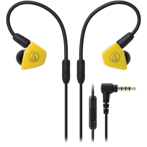 Audio-Technica Consumer ATH-LS50iSSYL In-Ear Headphones with In-Line Mic and Control (Yellow)
