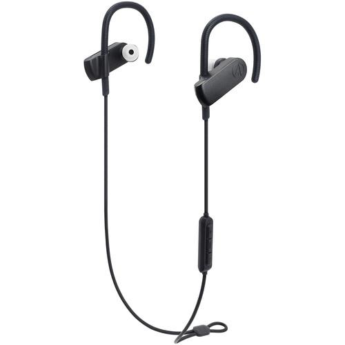 Audio-Technica Consumer ATH-SPORT70BT SonicSport Wireless In-Ear Headphones (Black)